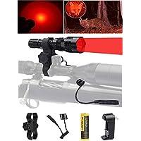 Ulako 250 Yards Range Red Light Tactical Flashlight with...