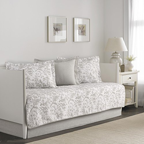 Laura Ashley Amberley 5-Piece Daybed Cover Set, Twin, Beige