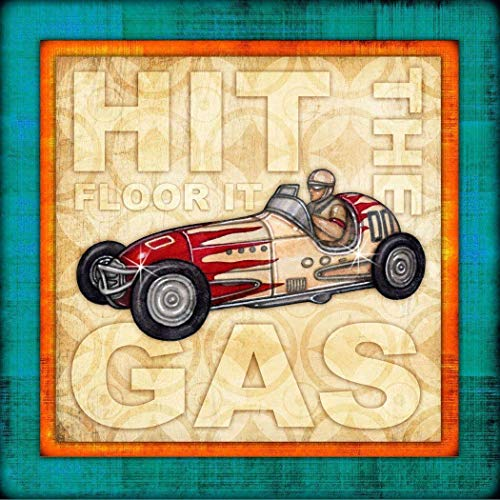 Retro Toy Car Square Art Print by Dan Morris