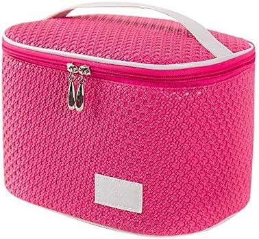 化粧品袋 大容量の化粧品収納袋多機能コスメティックバッグポータブルトラベルコスメティックバッグ 旅行化粧収納ボックス (Color : Rose red)
