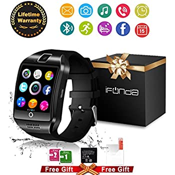 Bluetooth Smart Watch With Camera Touch Screen Smartwatch Unlocked Watch Cell Phone With Sim Card Slot Smart Wrist Watch Fitness Tracker For Android Phones Samsung IOS Iphone 7 8 X Sony Men Women Kids