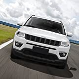 Grill Inserts Grille Cover Frame Trims Kit for Jeep Compass 2017 2018 2019