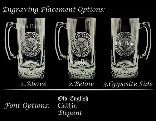 Donnelly Irish Coat of Arms Stein: Free Shipping & Personalized Engraving