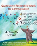 Quantitative Research Methods for Communication 9780195337471