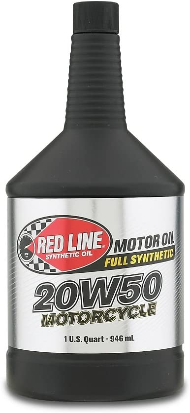 Red Line 42504 20W-50 Motorcycle Oil, 1 Quart (32 Ounces)