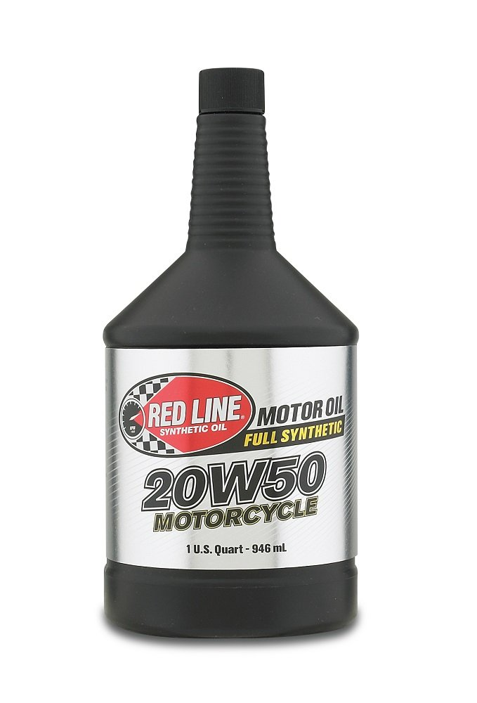Red Line RED42504 20W-50 Motorcycle Oil - 1 Quart Bottle