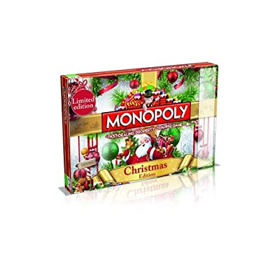 Winning Moves Christmas Monopoly Board Game: Toys & Games