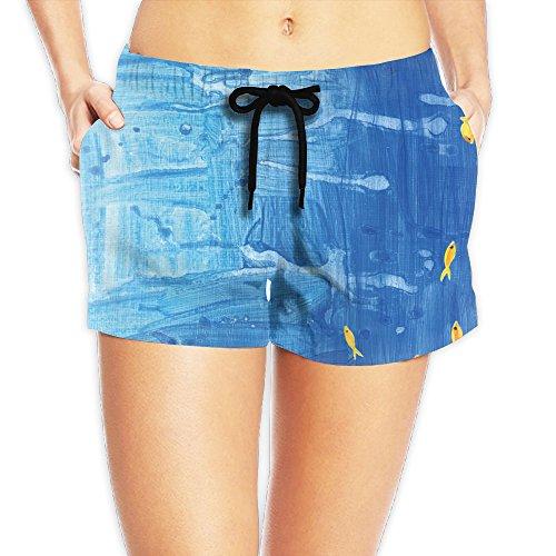 - MS Marine Watercolor Slim Fit Short Pants