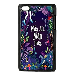 LSQDIY(R) We are all mad here iPod Touch 4 Custom Case, High-quality iPod Touch 4 Case We are all mad here