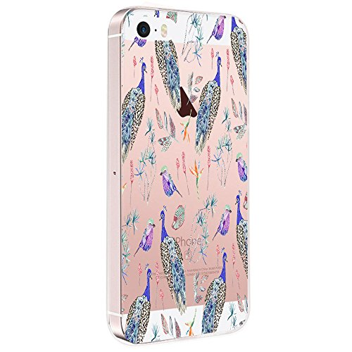 Price comparison product image Beryerbi iPhone 5 5S SE Cover Soft TPU Shock-Absorption Anti-Scratch Transparent Silicone Protective Cover (5, iPhone 5 5S SE)