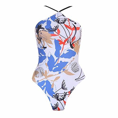 Set la da donne costume Swimsuit costume Bikini da bagno fascetta Un timbro da terrazza Bagno GK donna bagno Leaves posteriore Bikini delle Costume Bikini Lounge OWH55q
