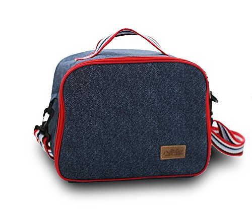 finex-insulated-lining-zippered-bento-lunch-tote-bag-with-adjustable-top-strap-handle-demin-blue-oxf