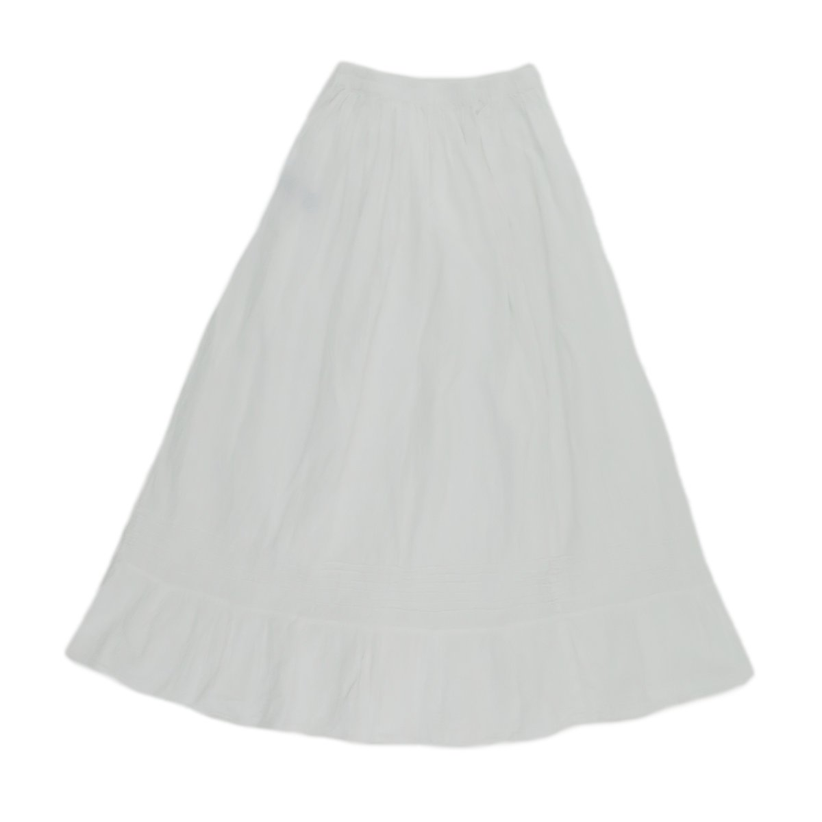 Women's White Cotton Embroidered Mexican Skirt - DeluxeAdultCostumes.com