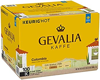 100 Count Gevalia Colombia Coffee, K-CUP Pods