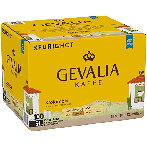 Coffee Pods (Gevalia Colombia Coffee, K-CUP Pods, 100 Count)