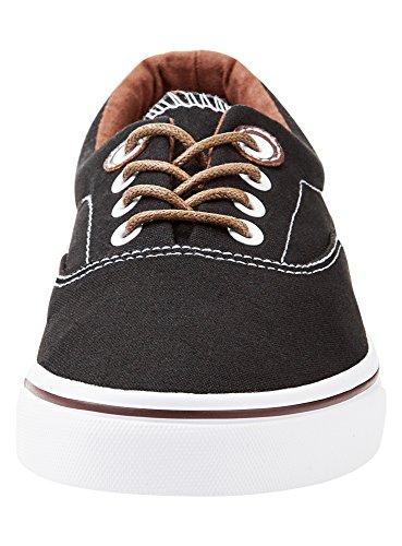 oodji Uomo 2900N Nero Tela di Basic Sneakers Ultra rpq75rw6