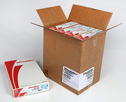 Pendaflex Pressboard End Tab File Guides, Legal Size, Blank, 50/BX, 250/CT by Pendaflex