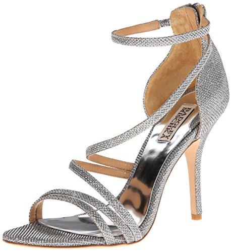 Badgley Mischka Women's Landmark Dress Sandal,Silver,7 M US