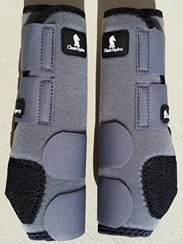 CLASSIC EQUINE LEGACY SMB BOOTS - FRONT - ALL SIZES & COLORS (Steel Grey, Small)
