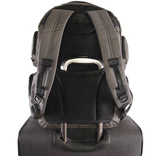 51jHwhHLqJL - ORIGINAL PENGUIN Odell 9 Pocket Laptop/Tablet Backpack Briefcase, Charcoal, One Size