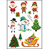 LiPing Environmentally Friendly Waterproof And Cute Tattoos For Christmas/Body Art Sticker for Man Women/Body Paints Temporary Tattoo Designs (A)