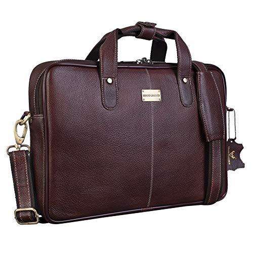 BRAND LEATHER 14 inch Laptop Messenger Bag