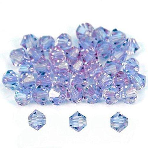 40 Alexandrite Bicone Swarovski Crystal Beads 5301 4mm