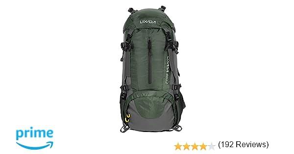 Lixada Mochila de Senderismo 50L con Cubierta Impermeable Mochila de Marcha Trekking Camping Deporte al Aire Libre: Amazon.es: Deportes y aire libre