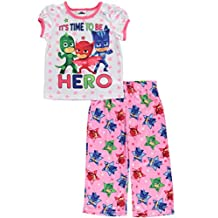 """PJ Masks Little Girls' """"Heroes on the Go"""" 2-Piece Pajamas"""