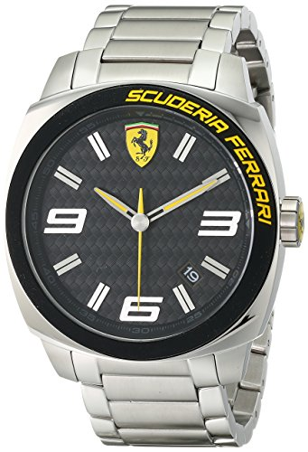 Ferrari Men's 0830168 Aero Evo Analog Display Quartz Silver Watch ()