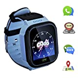 Kids smartwatch with Call and Location Tracking, Emergency SOS Alarm System, Compatible with iOS/Android System, Children's Christmas or Birthday Gift Preferred, Suitable for boy (Blue)