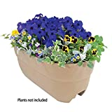 EMSCO Group Bloomers Railing Planter with Drainage