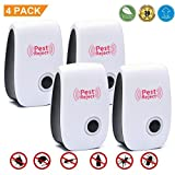 ultrasound machine at home - Alicemall Pest Control Ultrasonic Repellent - Electronic Mosquito Repellent Plug In Pest Warrior For Insects & Mice, Roaches, Bugs, Flies, Fleas, Ants,Pet & Human Safe (4 PACK)