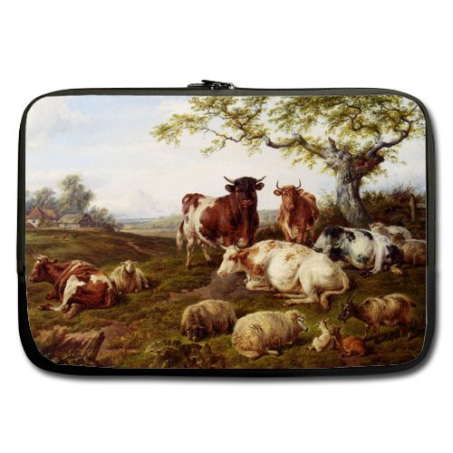 A Flock Of Sheep Resting Best Price 17 Inch Laptop / Notebook Computer/ Water Resistant Neoprene Laptop Sleeve (Double-sided,No Straps)