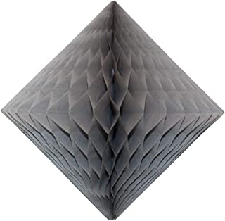 product image for 3-Pack 12 Inch Gray Honeycomb Diamond Decoration