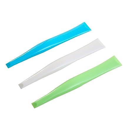 BESTONZON 10pcs raspador de la Cubierta Raspador plástico Limpiador Superior de la Estufa (3 Colores