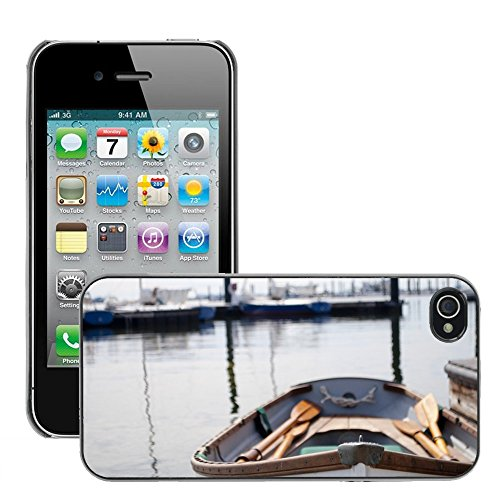 Stampato Modelli Hard plastica Custodie indietro Case Cover pelle protettiva Per // M00421762 Eau chaloupe Pagaies Bateau Sea Row // Apple iPhone 4 4S 4G