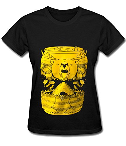 Break Time Women's Bumble Beer classic Blouse Tee black (Inflatable Basketball Cooler compare prices)