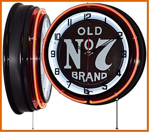 """Used, Jack Daniel's 18"""" Old No. 7 Brand Sign Orange Double for sale  Delivered anywhere in USA"""