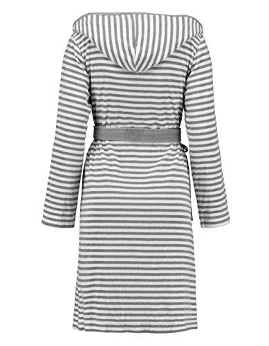 Esprit Bademantel Striped Hoodie, S - XL, grey, Größe Bademäntel:S