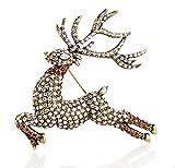 Heidi Daus Reindeer-Design SWAROVSKI Crystal Pin ~ Glitzen
