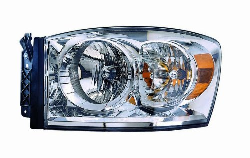 (Dodge Ram Pickup (07-08 Only, New Style) Replacement Headlight Assembly - Driver Side)
