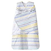 Halo SleepSack 100% Cotton Swaddle, Stripes/Circles Yellow, Newborn