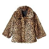 Osh Kosh B'gosh Little Girls' Toddler Reversible Faux Fur Animal Print Jacket, 5T