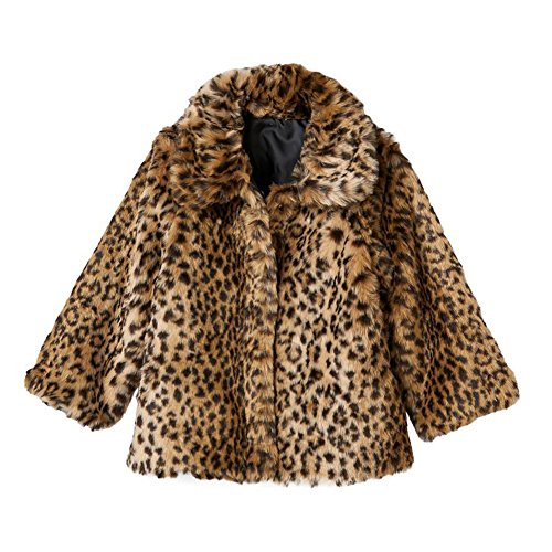 - Osh Kosh B'Gosh Baby Girls' Infant Reversible Faux Fur Animal Print Jacket, 24M