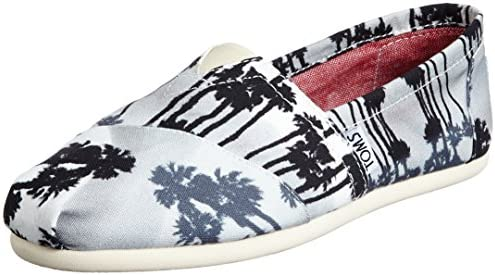 TOMS Women's Classic Linen Rope-Sole Comfortable and Easy-Fit Slip-On