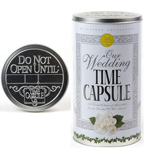 (Milestone Collection Wedding Time Capsule Personalized Keepsake Gift - Bridal Shower Decorations - Best Wedding Gifts for The Couple or Bride - Memory Storage Container Tin Gift Set)