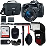 Canon EOS 77D Digital SLR Camera with Canon EF-S 18-135mm f/3.5-5.6 IS USM Lens + Accessory Bundle (10 Items)