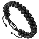 murtoo Essential Oil Bracelet Adjustable Beads Bracelet Lava Rock Stone Bracelet Perfume Diffuser Bracelet, 7''-9'' Gift