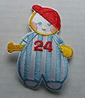 Baby Patch Baseball Ball Player Red Cap Iron On Applique Embroidered Cute Sew Pcs Badge Patches Craft Girl Mix Appliques 5 4 Infant Diy Garment Sewing 2 New Jacket Patches Emblem Upick Nation Trim X3 Standard Logo Motif Appliques Cloth Embroidery Rose Tri